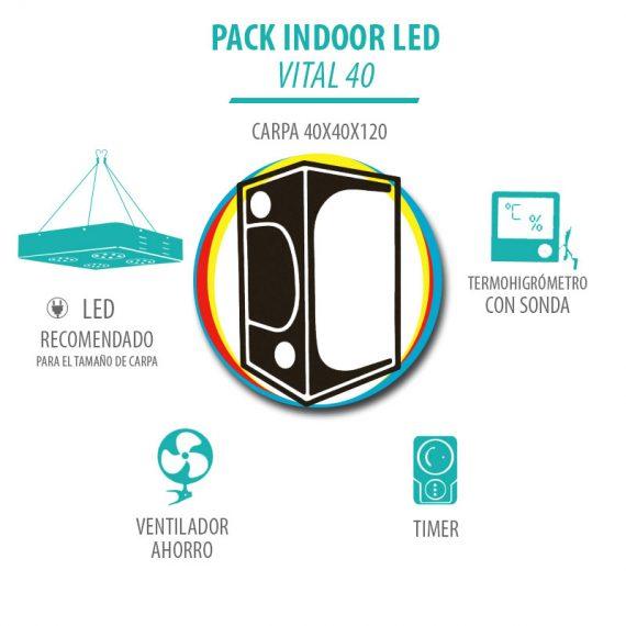 Pack Indoor LED Vital 40