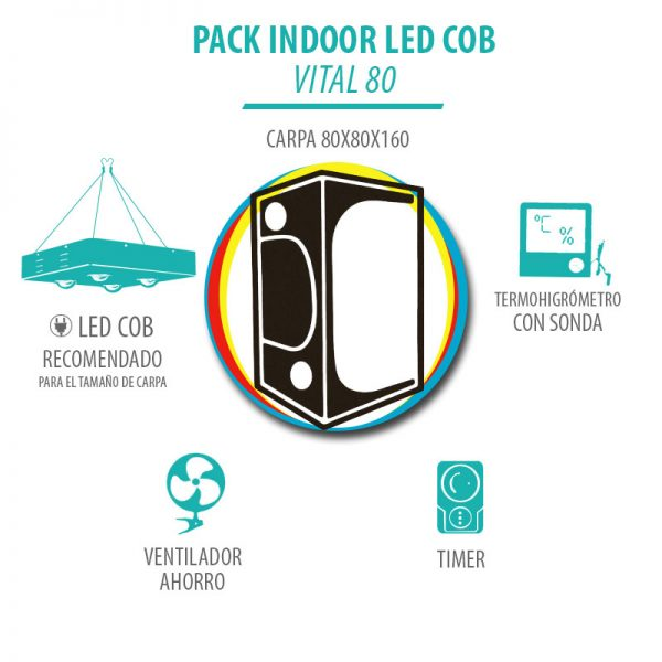 Pack Indoor LED COB Vital 80