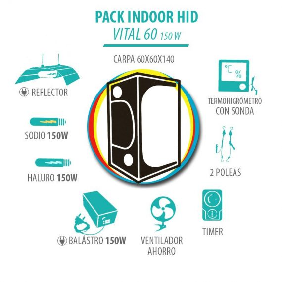 Pack Indoor HID Vital 60 150W