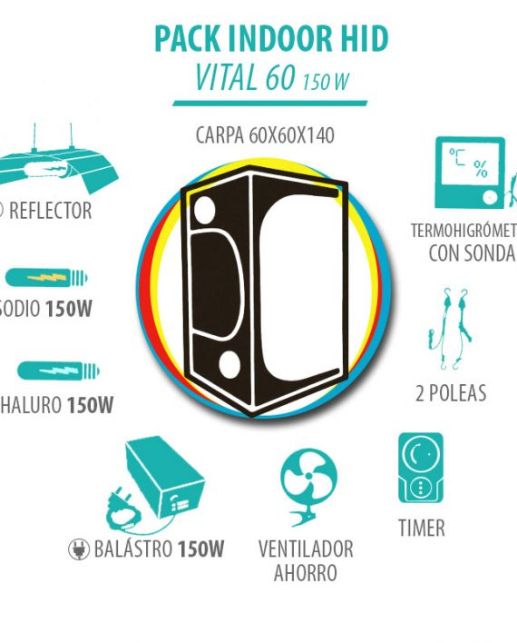 Pack Indoor HID Vital 60 150W