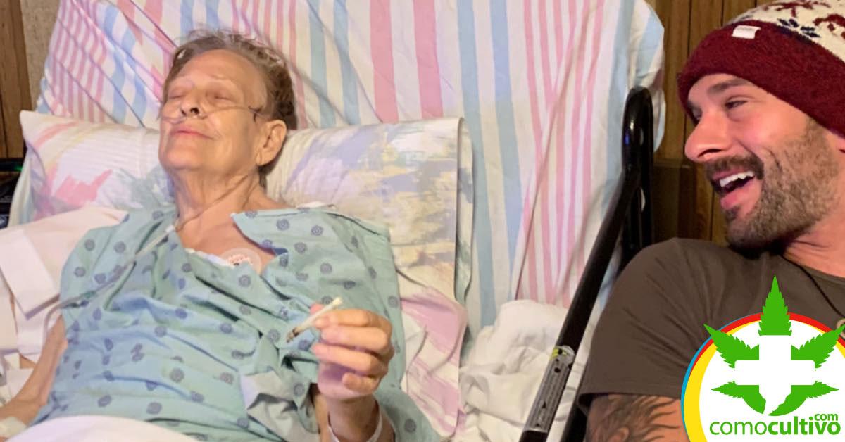 Abuela que fumó marihuana con su nieto